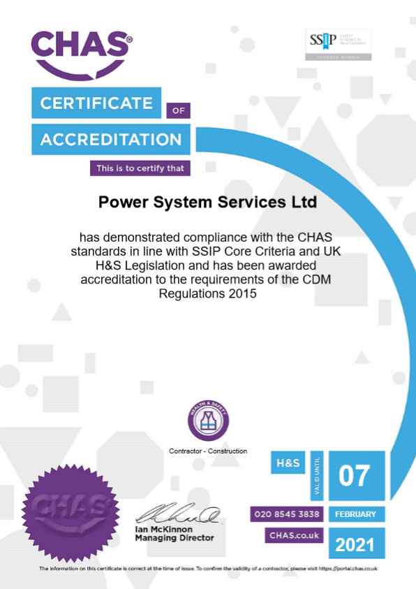 CHAS Certificate - 2020